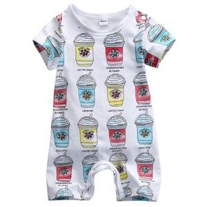 """Other - """"frappe shorty"""" 12 mo. Unisex romper"""